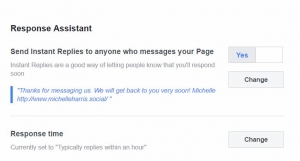 How to set up response assistant on your Facebook Page