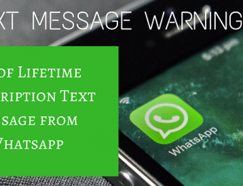 Spoof Lifetime Subscription Text message from Whatsapp