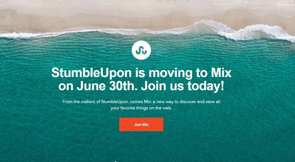 stumbleupon has gone
