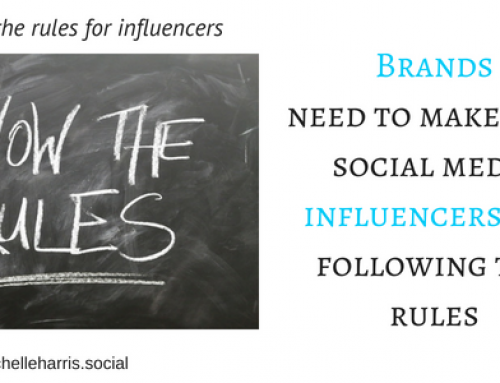 Brands – make sure social media influencers are following the rules