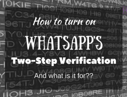How to turn on Whatsapps new two-step verification