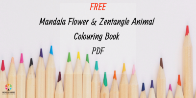 Free Mandala Flower and Zentangle Animal Colouring Book