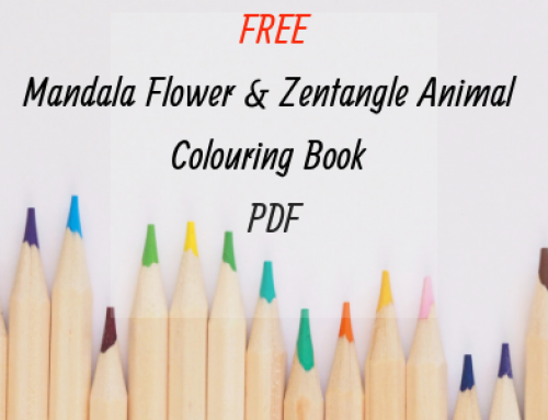 Free Mandala Flower and Zentangle Animal Colouring Book – for Adults and Children