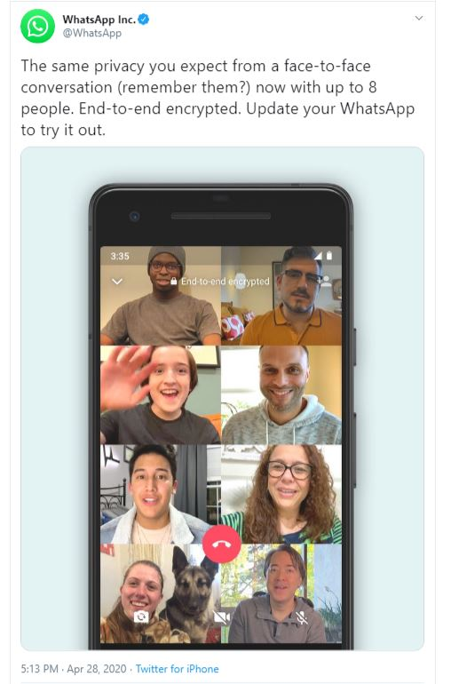 How to add 8 People to WhatsApp Video Calls